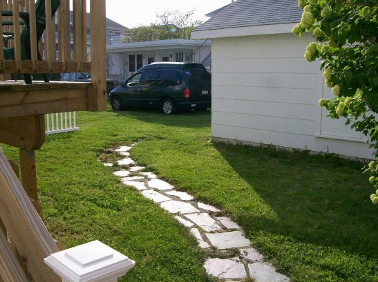 Backyard View from Rear Deck