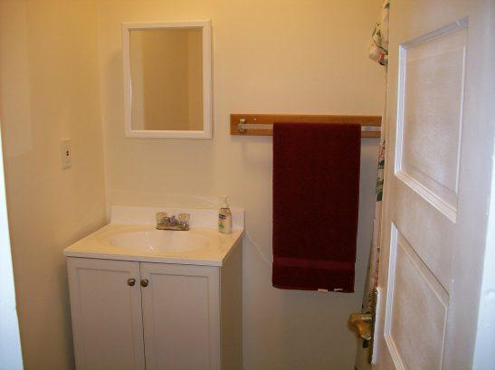 Bathroom w/shower stall in Master BR