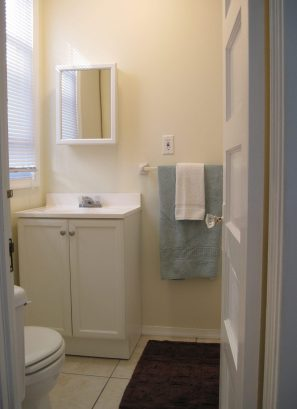 Bathroom w/shower stall, Front BR