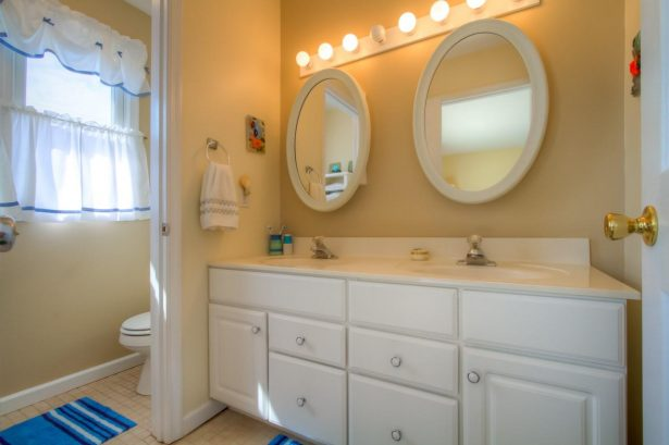 On suite master bath with double sinks