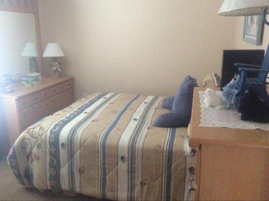 Bedroom #2 - queen size bed, ceiling fan, 2 dressers.  No TV
