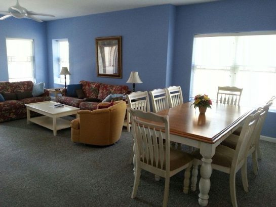 Vibrant, spacious dining/living area. Full balcony to enjoy gorgeous sunsets.