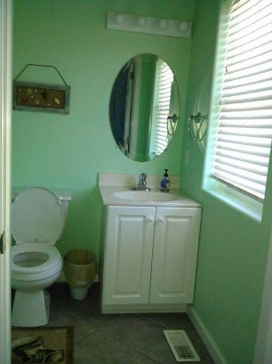Second floor powder room.