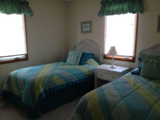 Second floor twin bed bedroom.