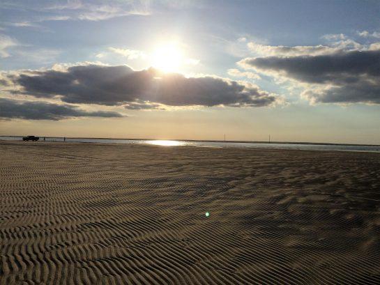 Sunrise at best beach in Brigantine