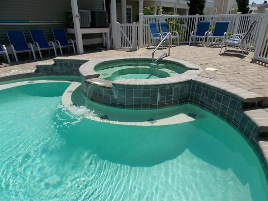Hot tub and pool are open daily from 10 am to 8 pm