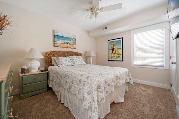 """BEDROOM #2:  Queen Bed, Dresser, Nightstand, 42"""" TV on wall, custom closet"""
