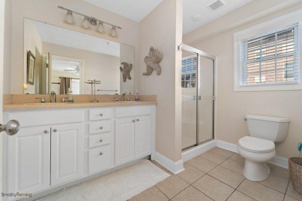 MASTER BATH:  2 sinks.  plenty of storage in vanity