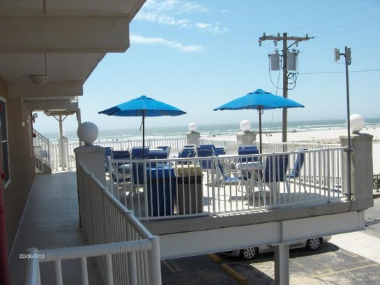 Oceanfront patio is right outside our door!