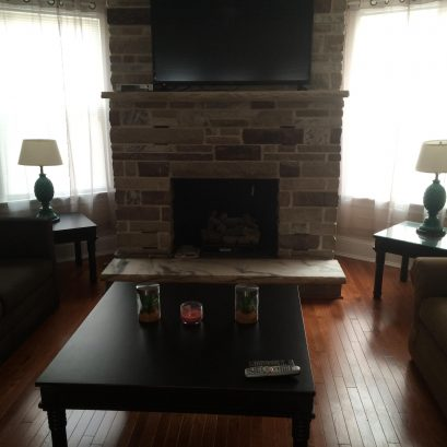MAIN HOUSE: Family Room with Fireplace