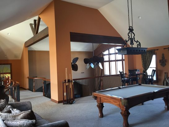 Billiard Room Overlooking Great Room