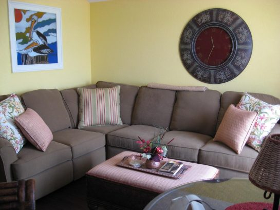 Large comfy sectional sofa with reclining ends
