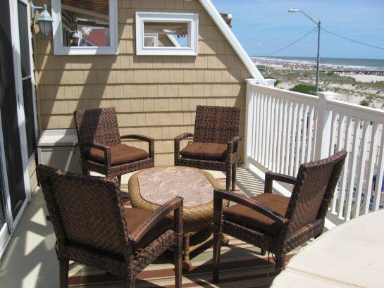 Beach, ocean, boardwalk front private deck