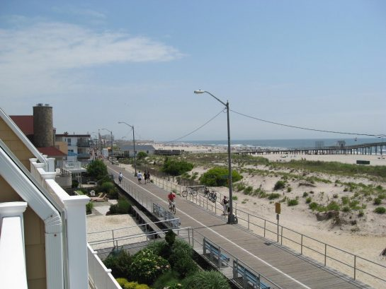 Looking north on the boardwalk