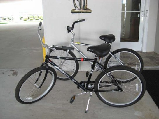 Our adult beach cruiser bikes are available to our rental guests