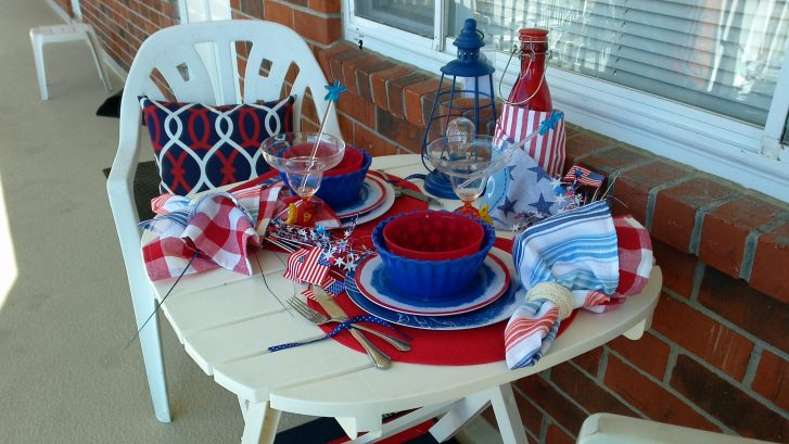 Set the table on the balcony to create your own celebration!