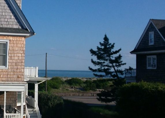 Beautiful ocean view from bedroom; open the window to fall asleep to the sounds of the waves!