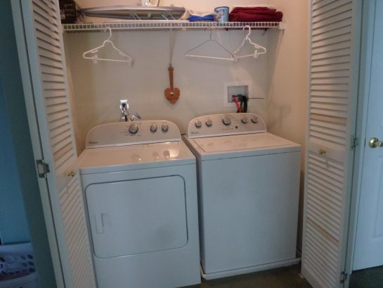 Third flloor laundry with large HE washer and dryer