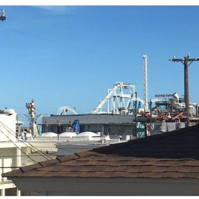 See the rides on Morey's Pier from the deck