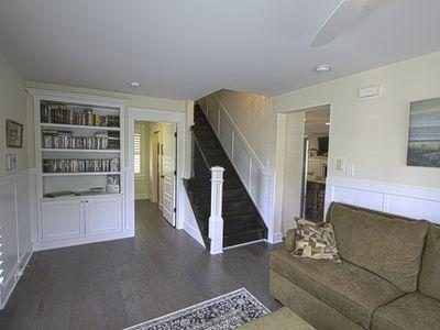 Den facing stairs