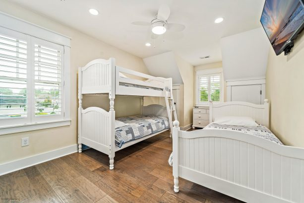 3rd bedroom - twin bunk beds and twin bed