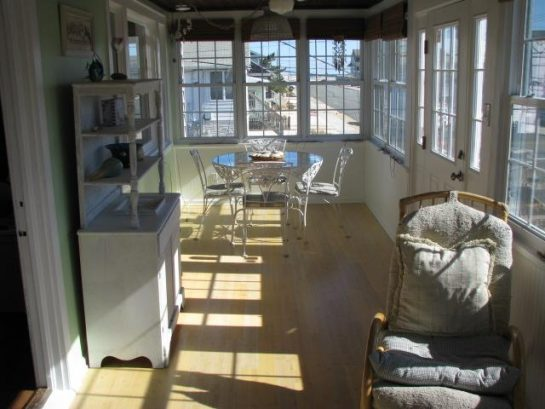 Sunroom looking toward the beach