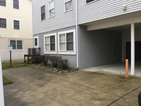 Garage Entrance, Car port and 3rd parking spot