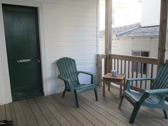 rear deck & private laundry room