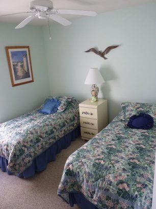 3rd Bedroom - Two twin beds with plenty of storage in furniture and closet