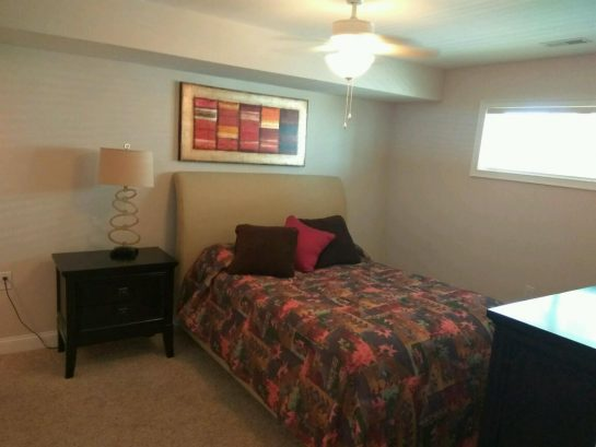 Master Bedroom decorated to remind you are at the beach!