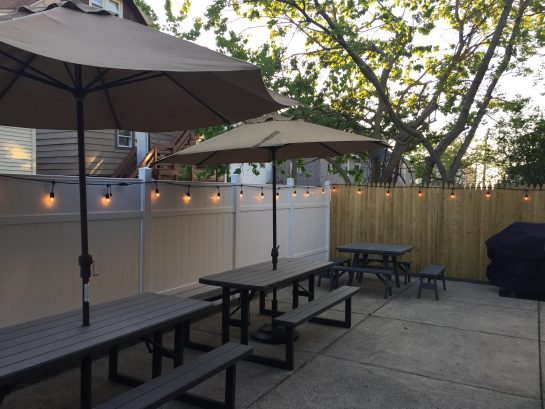 Fence Lighting for Evening Dining