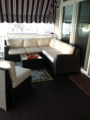 Front Porch - Vintage Awnings - Indoor Quality Sectional Sofa
