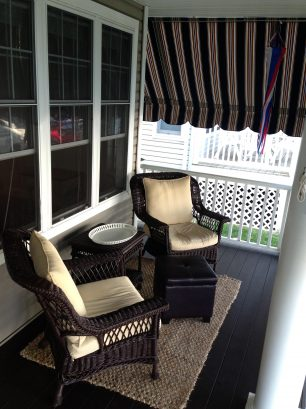 2nd Pic of Front Porch - Beautiful Wing Back Chairs