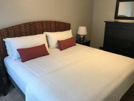 """1st Floor - Bedroom #1 - King Bed, Large Dresser, 42"""" HDTV"""