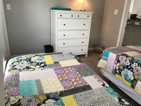 2nd Floor - Bedroom #4 - Two Twin Beds, Dresser and HDTV