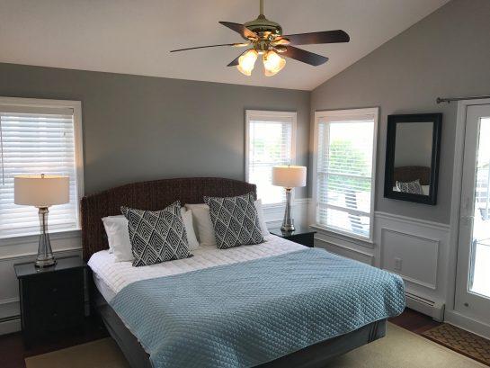 """2nd Floor - Bedroom #5 - Master Bedroom - King Bed, Large Dresser, 55"""" HDTV, Private Full Bath"""