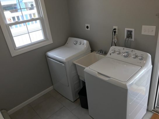 1st Floor Laundry Room - Full Size Washer & Dryer and Mud room!