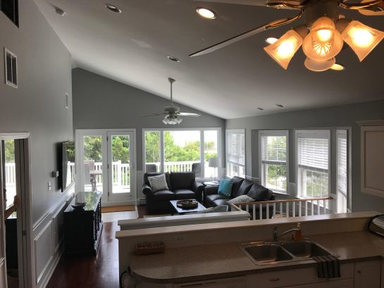 2nd Floor - Wide Angle View - Cathedral Ceilings, Tons of Windows, Views of Ocean