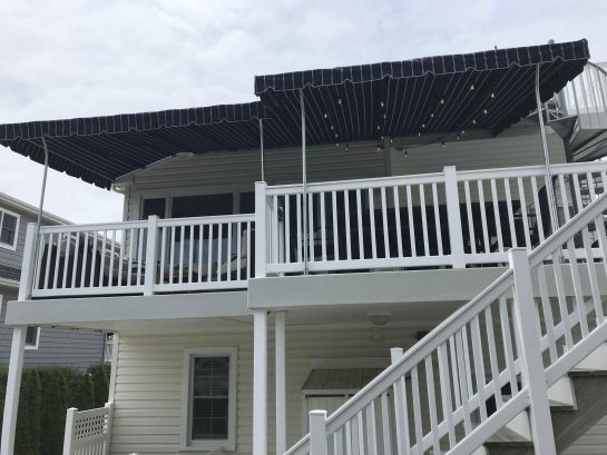 large rear covered deck -with ocean views