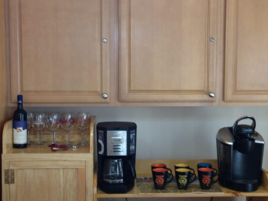Wine Bar-Traditional Coffee Maker and Keurig K-Cup Coffee Maker