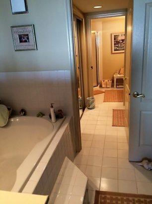 Jacuzzi and bathroom