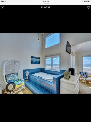 Jetted tub open to the Master Bedroom