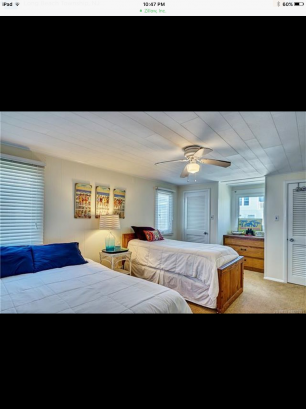 Bedroom: 1-Queen and 1-Twin  Bed, 2 Closets