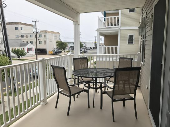 End  unit  deck, furnished with additional chairs with oceanview