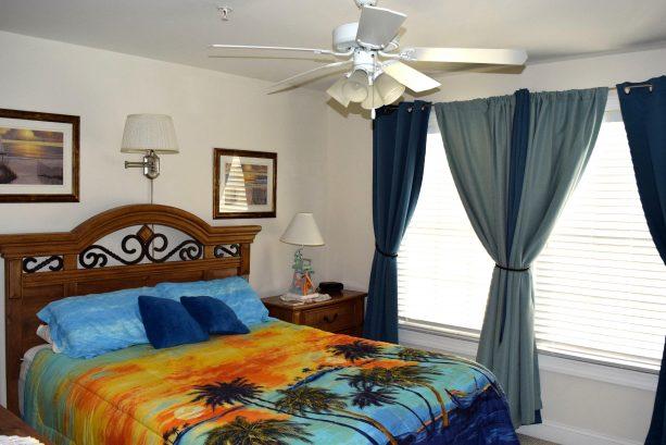 Queen-sized bedroom