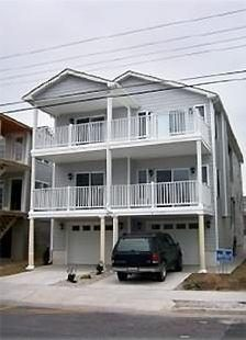 Unit is Entire 2nd floor with full length deck. Steps to Beach/Boardwalk