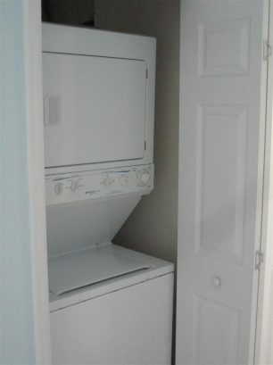 Full size washer/dryer inside unit for your use