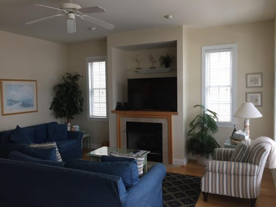 Living Room contains large comfortable furniture for relaxing after a day of fun and adventure