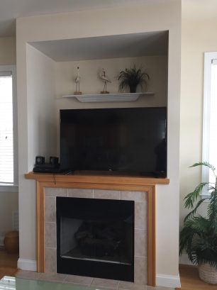 """Entertainment Center with 55"""" HD Ultra TV w/ Roku, BluRay DVD, Stereo with Bluetooth and a gas fireplace"""