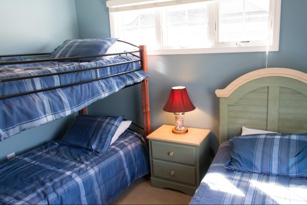 Bedroom #3 with bunkbed and twin bed